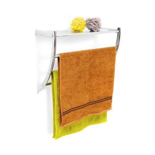 relaxdays Handtuchhalter »Wandhandtuchhalter Chrom«