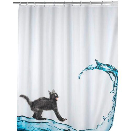 WENKO Duschvorhang »Cat« Breite 180 cm, Höhe 200 cm, waschbar