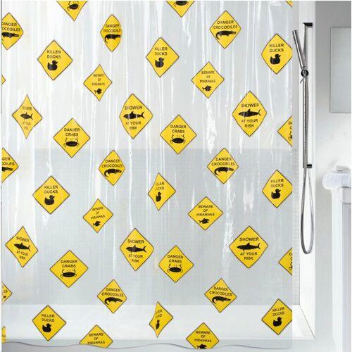 spirella Duschvorhang »Danger« Breite 180 cm, Höhe 200 cm
