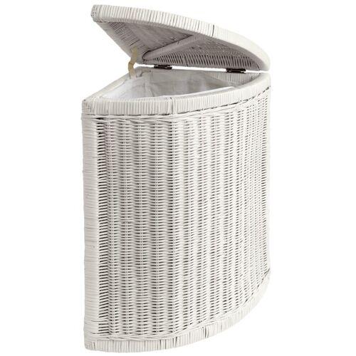 heine home Wäschekorb aus Rattangeflecht, weiß