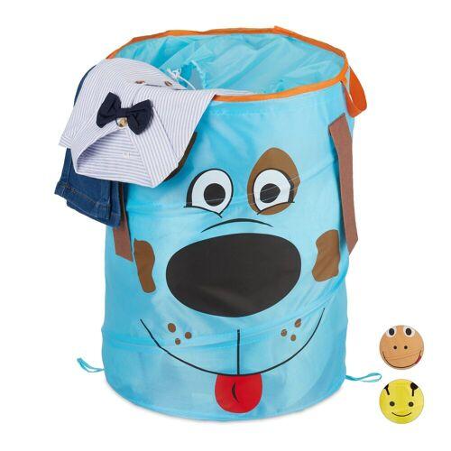 relaxdays Wäschekorb »Pop-Up Wäschekorb für Kinder«, Blau