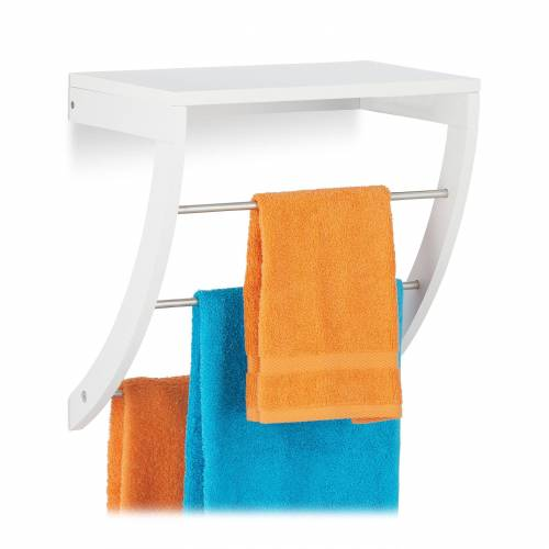 relaxdays Handtuchhalter »Wandhandtuchhalter Bad weiß«