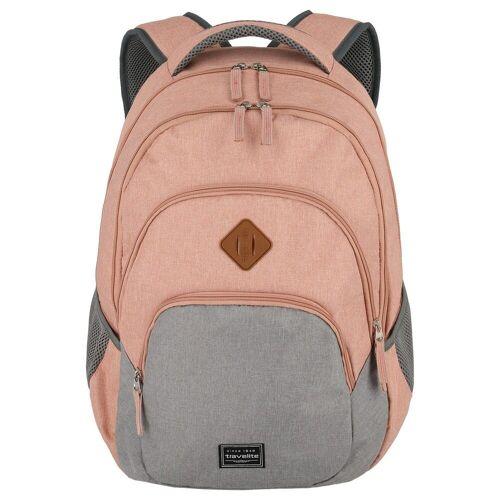 travelite Laptoprucksack »Basics Melange Rucksack 45 cm«, pink