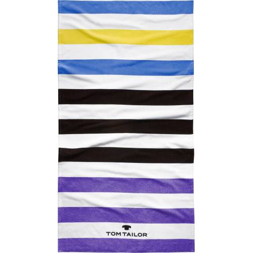 TOM TAILOR Strandtuch »Kairo« (1-St), mit tollen Streifen, violett
