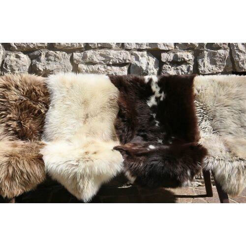 Hollert Fellteppich »Englisch gescheckt Schaffell Läufer Teppich«, , Tierform