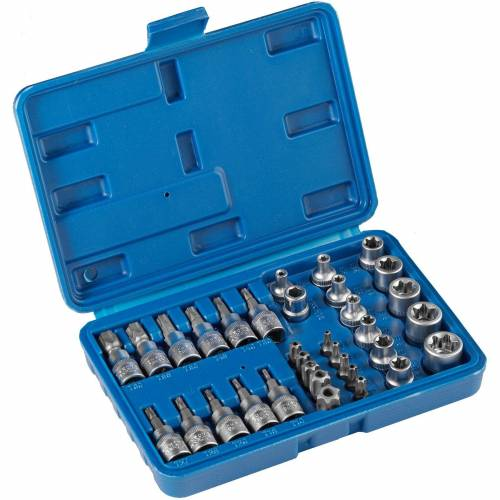 tectake Steckschlüssel »Steckschlüsselsatz 34-tlg.«