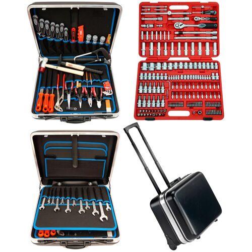 FAMEX Werkzeugset »606-09«, (Set, 174-St), im mobilen Werkzeugkoffer