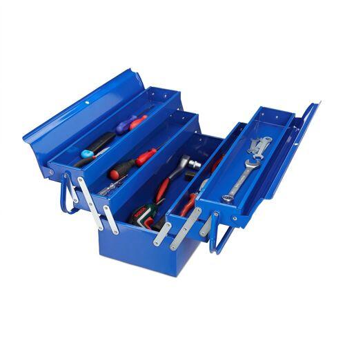relaxdays Werkzeugkoffer »Werkzeugkoffer leer blau«