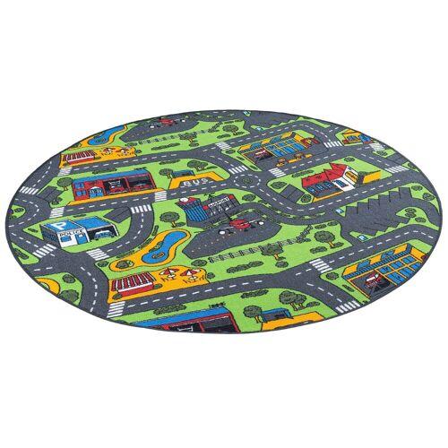Snapstyle Kinderteppich »Kinder Spiel Teppich City Play Rund«, , Rund, Höhe 4 mm