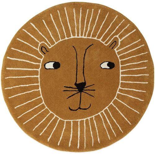 OYOY Kinderteppich »Lion Rug«, , Spielteppich, Teppich, Löwe, Kinderzimmer, 95cm, rund
