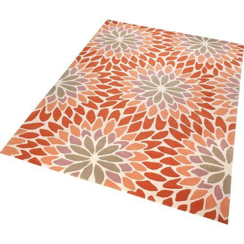 Esprit Teppich »Lotus«, , rechteckig, Höhe 10 mm, Wohnzimmer, orange