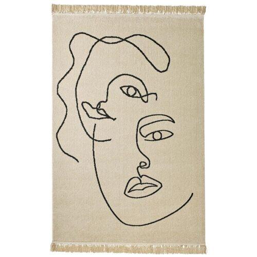 heine home Teppich mit Gesichter-Motiv