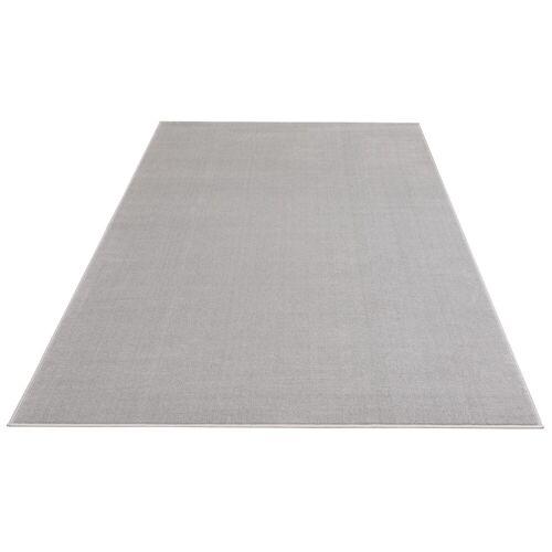 my home Teppich »Paddy«, , rechteckig, Höhe 7 mm, Uni Teppich, Wohnzimmer, grau