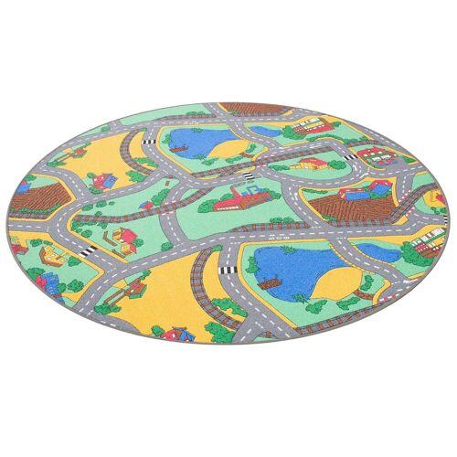 Snapstyle Kinderteppich »Kinder Spiel Teppich Straßenteppich Rund«, , Rund, Höhe 4 mm