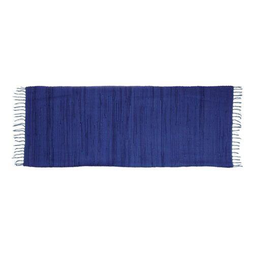 relaxdays Teppich »Flickenteppich einfarbig«, , Höhe 10 mm, Blau