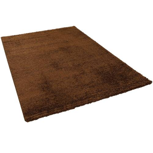 Pergamon Hochflor-Teppich »Hochflor Langflor Teppich Aloha«, , Höhe 40 mm, Braun