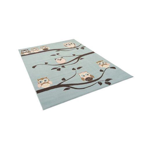 Pergamon Kinderteppich »Kinderteppich Trendline Eulen Pastell«, , Rechteckig, Höhe 8 mm