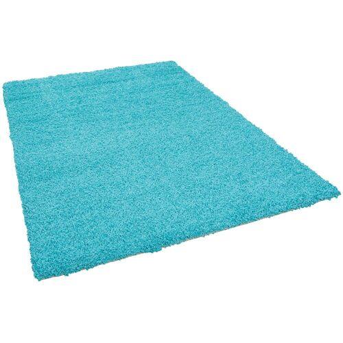 Pergamon Hochflor-Teppich »Hochflor Langflor Teppich Aloha«, , Höhe 40 mm, Aqua