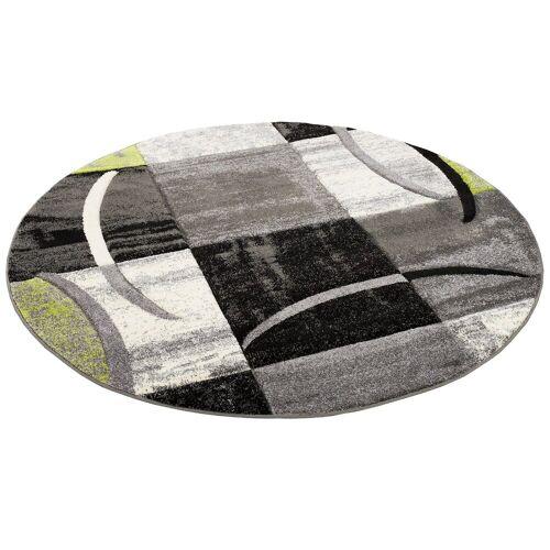 Pergamon Designteppich »Designer Teppich Brilliant Trend Rund«, , Rund, Höhe 13 mm, Grün