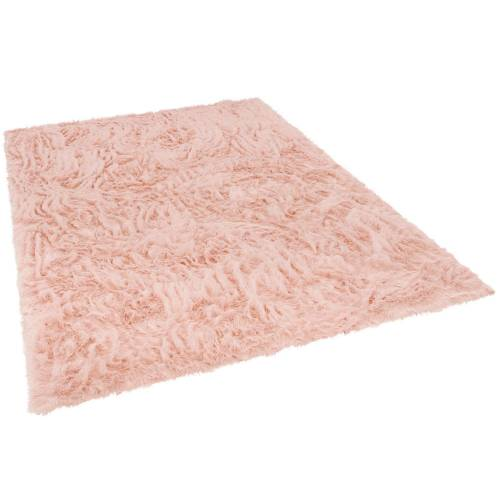 Pergamon Fellteppich »Luxus Super Soft Fellteppich Aspen Meliert«, , Rechteckig, Höhe 50 mm, Rosa