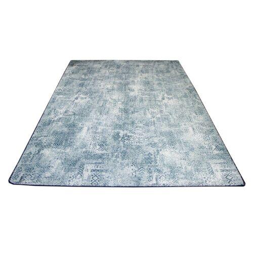 Snapstyle Designteppich »Designer Soft-Velours Teppich Vintage«, , Rechteckig, Höhe 6 mm, Eisblau
