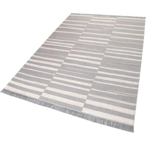 carpets&co Teppich »Skid Marks«, , rechteckig, Höhe 5 mm, Wohnzimmer, eisblau-natur