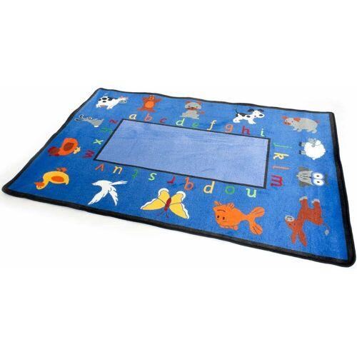 Primaflor-Ideen in Textil Kinderteppich »BILDER & BUCHSTABEN«, , rechteckig, Höhe 5 mm, Spielteppich, Alphabet lernen, Kinderzimmer