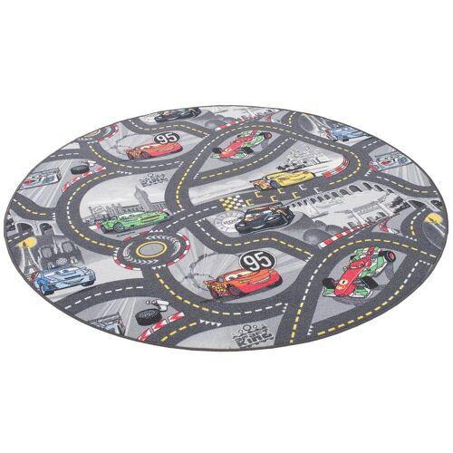 Snapstyle Kinderteppich »Kinder und Spielteppich Disney Cars Rund«, , Rund, Höhe 4 mm