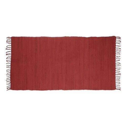 relaxdays Teppich »Flickenteppich einfarbig«, , Höhe 10 mm, Rot