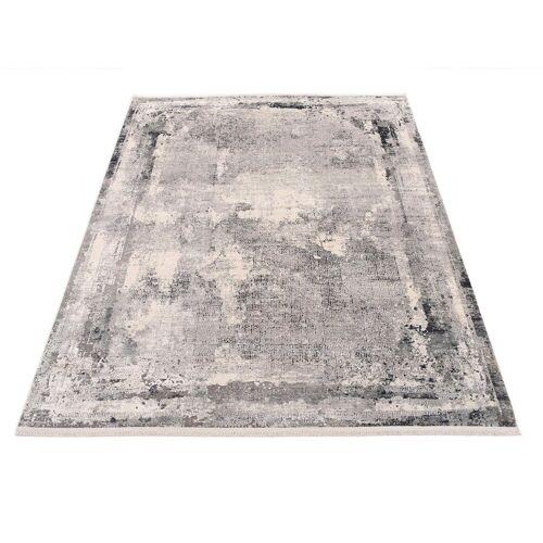 machalke® Teppich »frame«, , rechteckig, Höhe 8 mm, Design Teppich, Wohnzimmer, grau
