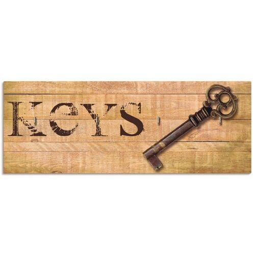 Artland Schlüsselbrett »Schlüssel«, aus Holz mit 4 Schlüsselhaken – Schlüsselboard, Schlüsselbretter, Schlüsselhalter, Schlüsselaufhänger für den Flur – Stil: Modern