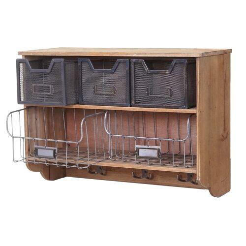 MCW Küchenregal »-A43-K«, Shabby-Look, 3 Haken, 3 kleine und 2 große Schubladen