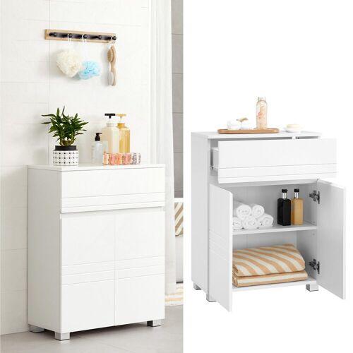 VASAGLE Badkommode »BBK140W01«, Badezimmerschrank, Sideboard mit Schublade, Badezimmer, Flur, 60 x 30 x 80 cm, weiß