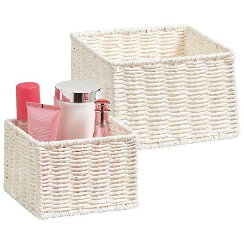 Zeller Present Aufbewahrungskorb »Aufbewahrungskörbchen« (Set, 2 Stück), Filzkorb, ideal fürs Bad, Wohnzimmer oder Büro