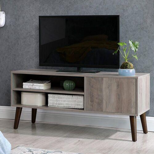 VASAGLE Lowboard »LTV009M01«, TV-Lowboards, für Fernseher bis zu 43 Zoll, greige