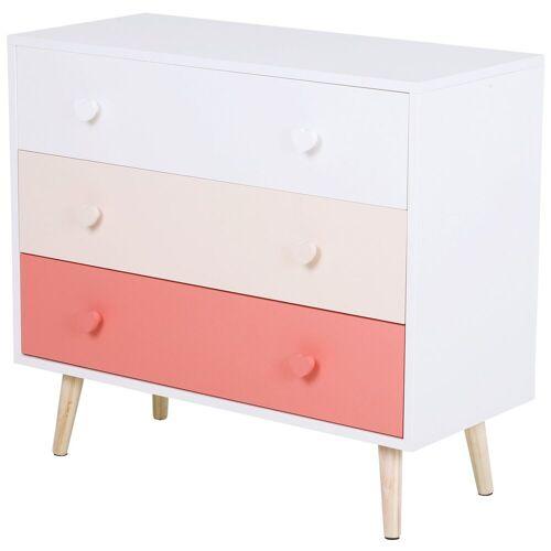 HOMCOM Kommode »Kommode für Kinder«, rosa