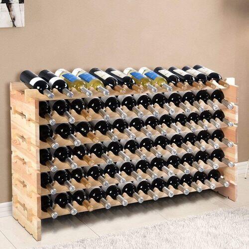 COSTWAY Weinregal »Flaschenregal Weinschrank Weinflaschenhalter«, für 72 Flaschen, Natur