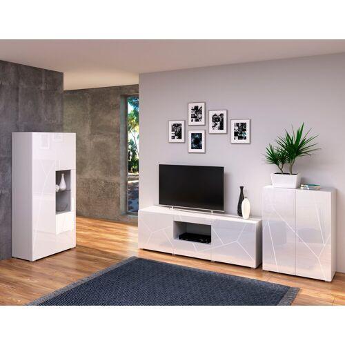INOSIGN Wohnzimmer-Set »Annegret«, (3-St., bestehend aus 1 Highboard, 1 TV-Lowboard und 1 Vitrine)