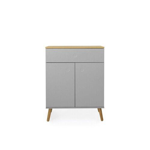 Tenzo Kommode »DOT«, mit zwei Türen versch. Farben, grau