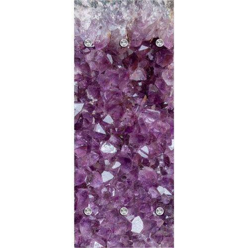 queence Garderobenpaneel »Kristalle«, mit 6 Haken, 50 x 120 cm