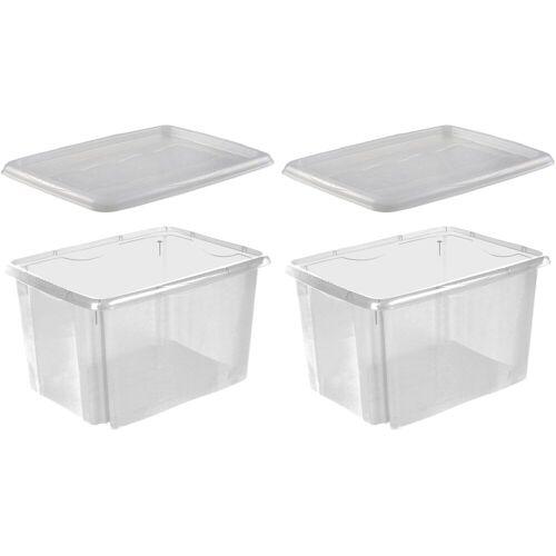 keeeper Stapelbox »emil« (Set, 2 Stück), transparent