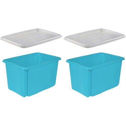 keeeper Stapelbox »emil« (Set, 2 Stück), blau