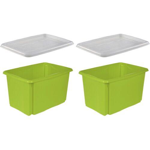 keeeper Stapelbox »emil« (Set, 2 Stück), grün