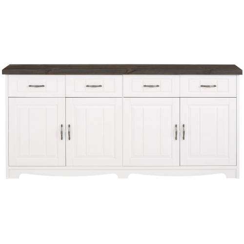 Home affaire Sideboard »Trinidad Antique«, weiß/grau