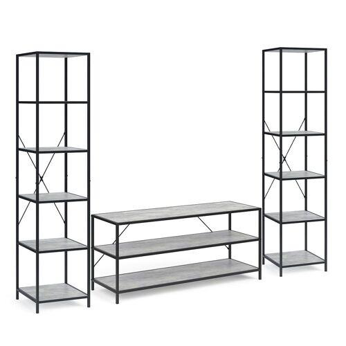 Vicco Standregal »Loft Set Fyrk Bücherregal Fernsehtisch Sideboard Wandregal Holz«