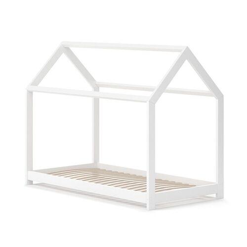VitaliSpa® Kinderbett »Hausbett WIKI 80x160 Weiß Kinderhaus Kinder Bett Holz«