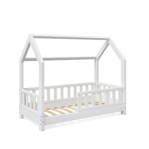 VitaliSpa® Kinderbett »Möbel 1638 Kinderhaus Wiki 70x140 Zaun W 1/2 Weiß«