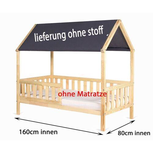 Clamaro Kinderbett (Kinderbett Jugendbett Holz Haus mit Dach 160x80 und 180x80 )