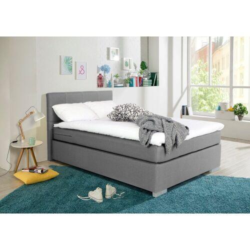 my home Boxbett »Laurin«, Härtegrad 3, mit Topper, grey