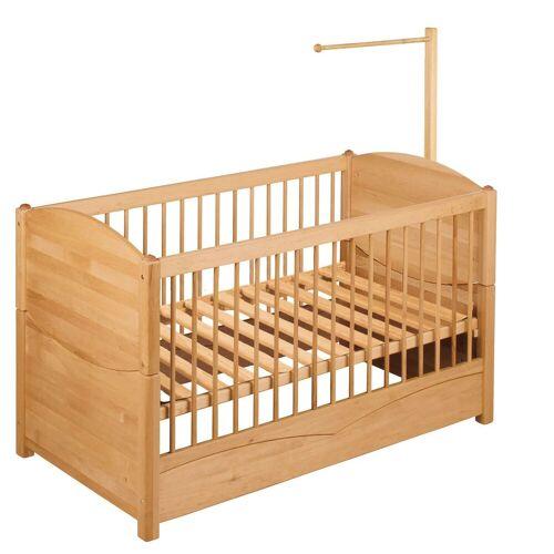 BioKinder - Das gesunde Kinderzimmer Babybett »Luca«, 70x140 cm mit Himmelstange, Erle